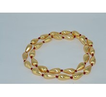 GOLD PLATED SILVER BEADS NECKLACE