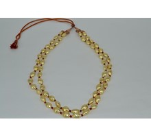 TWO LINE GOLD PLATED SILVER BEAD