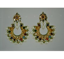 Navgrah kundan earrings
