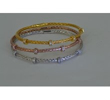 ITALIAN SILVER PAVE BRACLETS